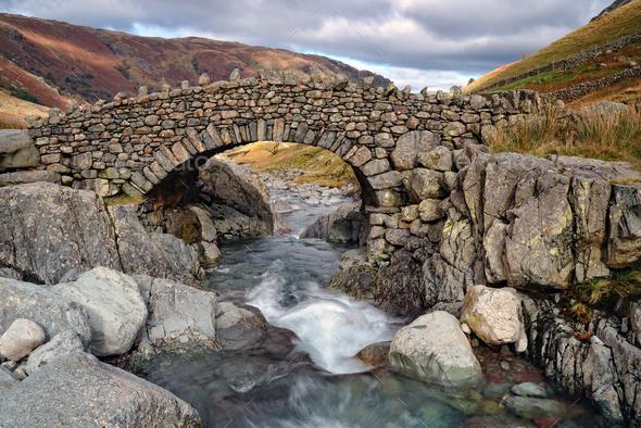 Stockley Bridge in Cumbria - Stock Photo - Images