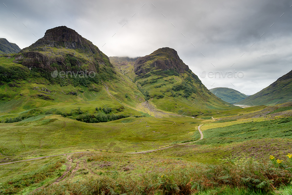 Glencoe Mountains in Scotland - Stock Photo - Images