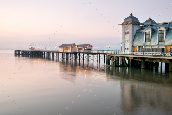Dawn at Penarth - Stock Photo - Images