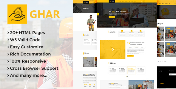 Ghar - Construction HTML Template
