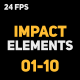 Liquid Elements Impacts 01-10 - VideoHive Item for Sale