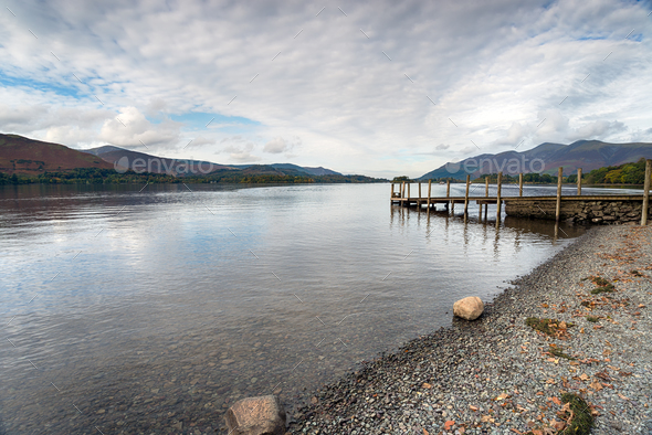 Derwentwater in Cumbria - Stock Photo - Images