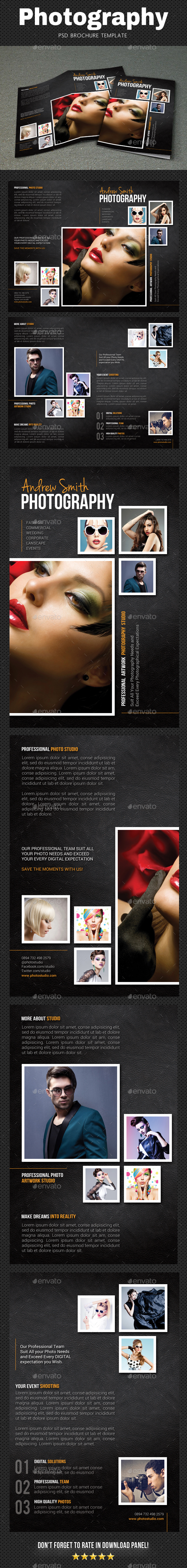 Photography Brochure 4 - Brochures Print Templates