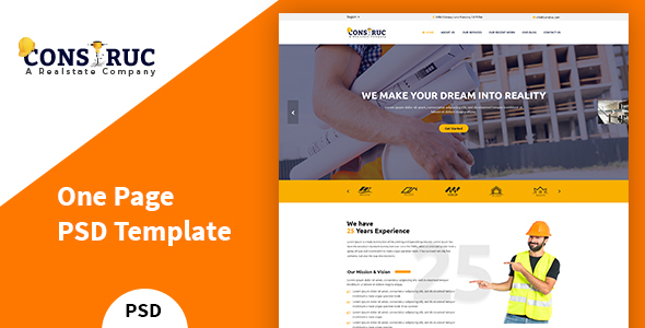 Construc – Construction PSD Template