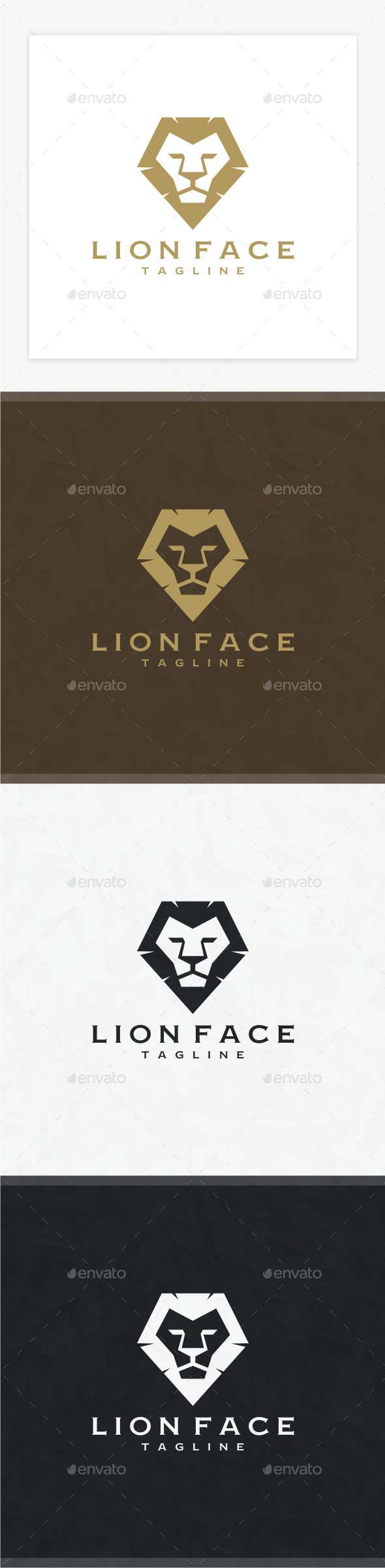 Lion Face Logo - Animals Logo Templates