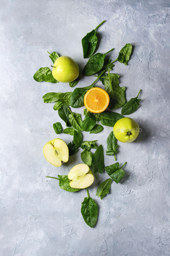 Ingredients of green smoothie - Stock Photo - Images