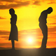 Silhouettes Couple Man Woman Broken Heart - VideoHive Item for Sale