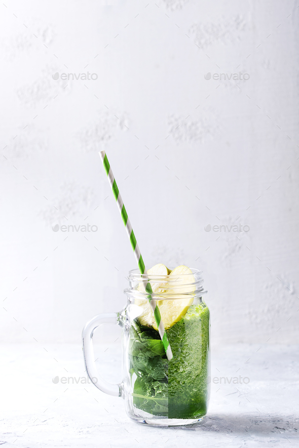 Ingredients for green smoothie - Stock Photo - Images