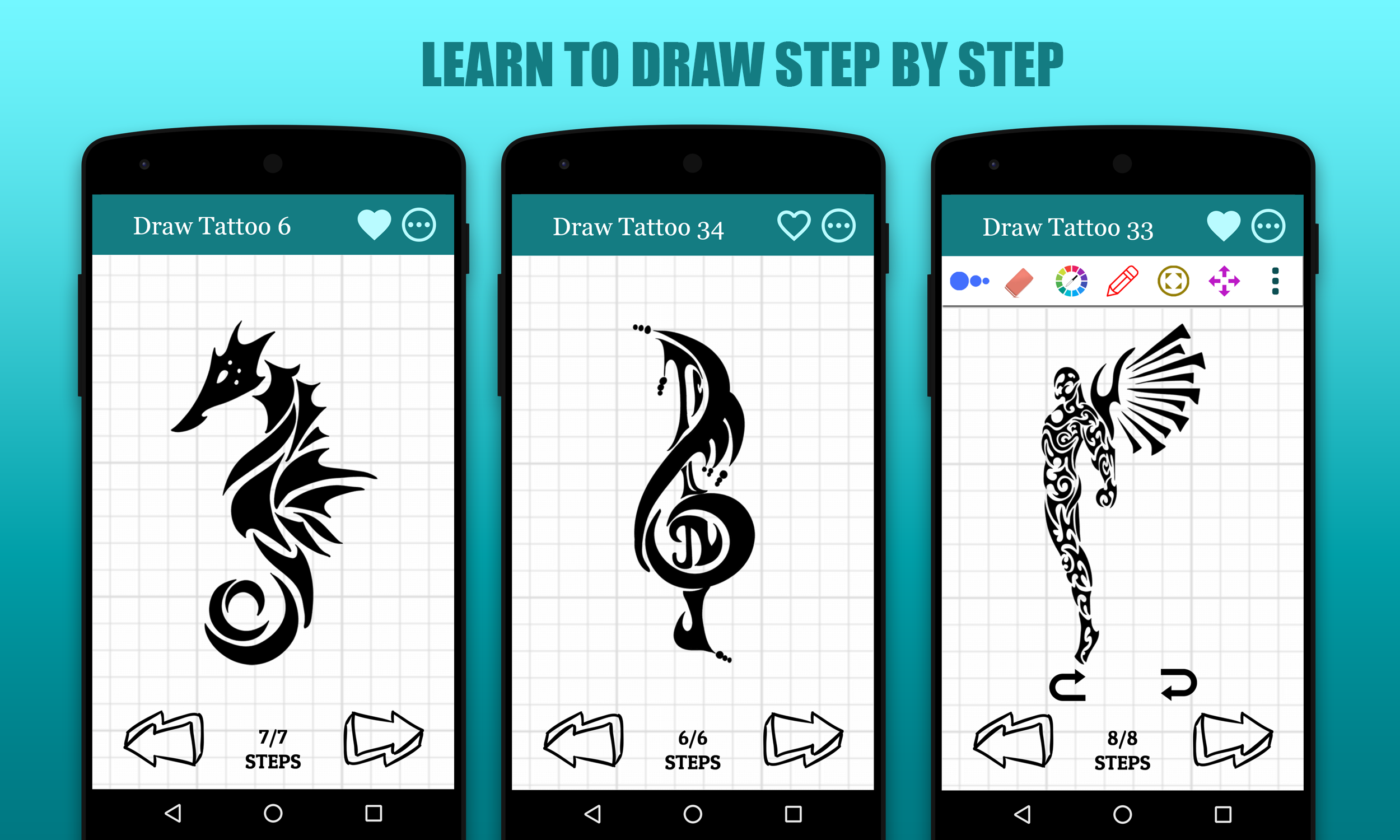 How To Draw Tattoo Android Full Application By Freaktemplate