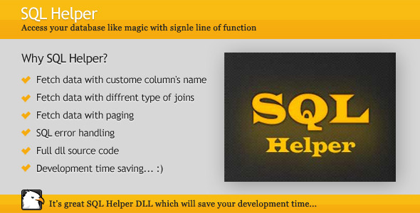 SQL Helper - CodeCanyon Item for Sale