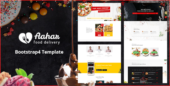 Aahar - Food Delivery Service Bootstrap4 Template - Food Retail
