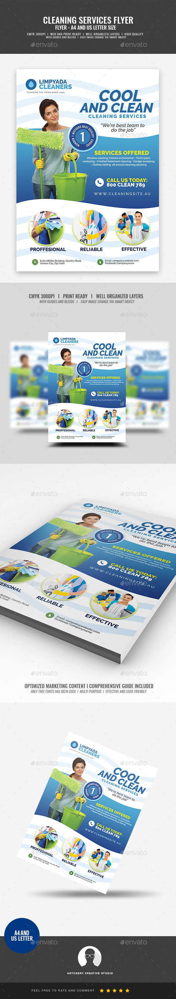 Commercial Cleaning Company Flyer - Corporate Flyers