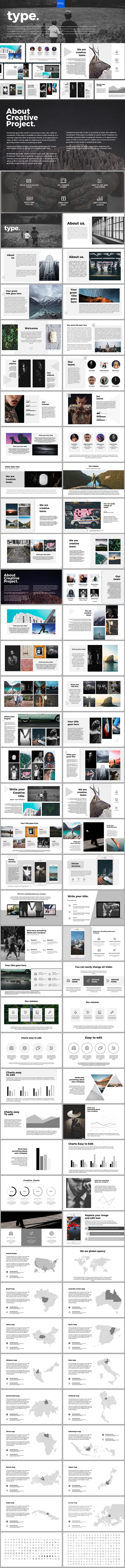 Type Powerpoint Template - PowerPoint Templates Presentation Templates