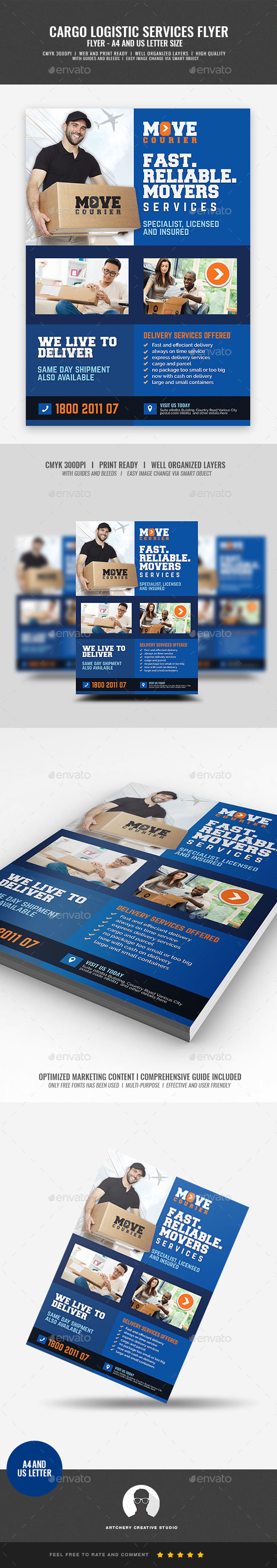 Cargo and Logistic Services Flyer - Corporate Flyers
