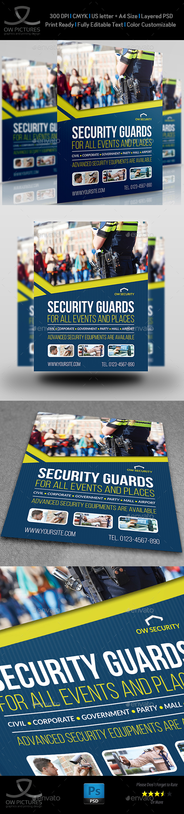Security Guards Flyer Template - Corporate Flyers