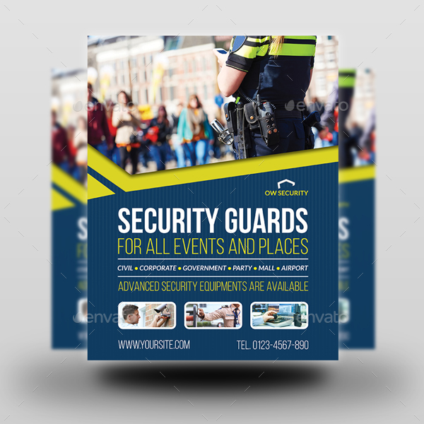 Security Guards Flyer Template By Owpictures Graphicriver
