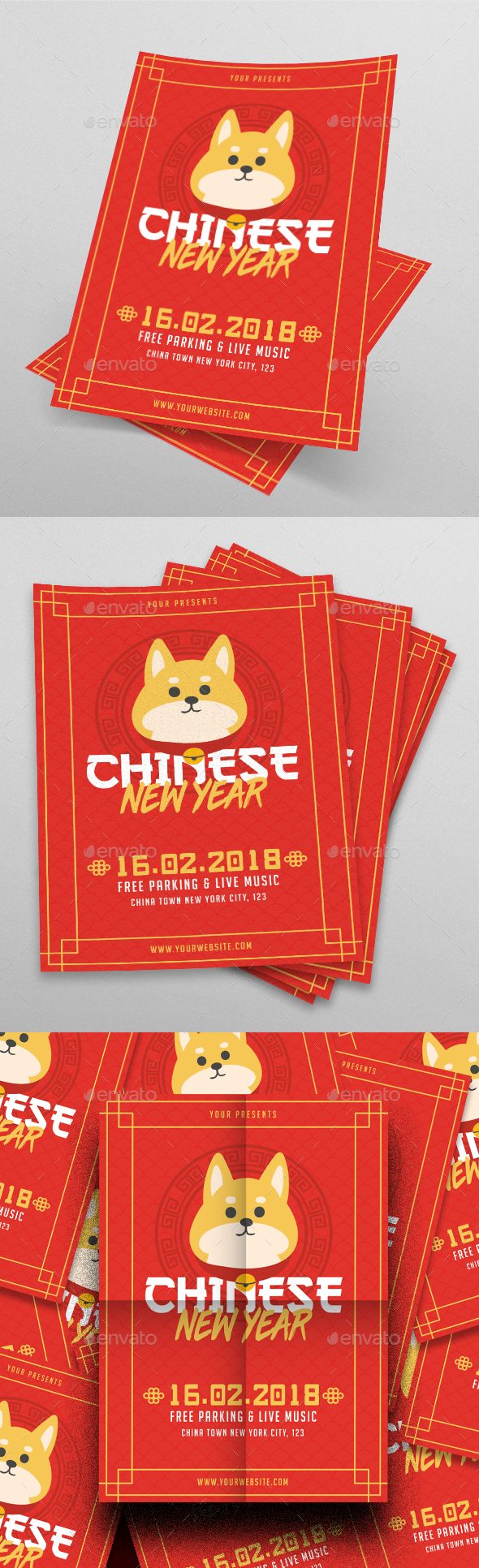 Chinese New Year 2018 - Flyers Print Templates