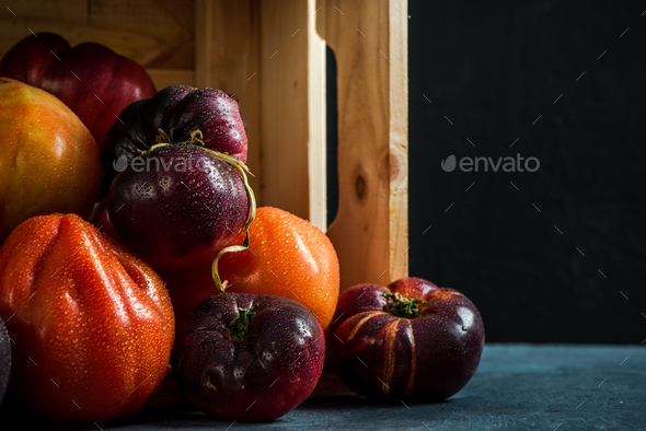 Freshly picked ripe tomatoes - Stock Photo - Images