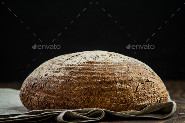 Wholegrain healthy bread loaf - Stock Photo - Images