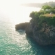 Happy Couple at Cliff Bali by Drone Aerial View - VideoHive Item for Sale