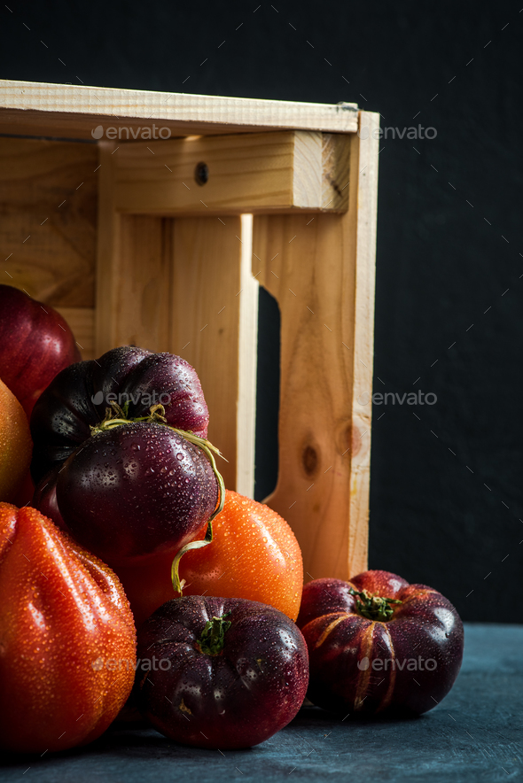 Market fresh produce tomatoes - Stock Photo - Images