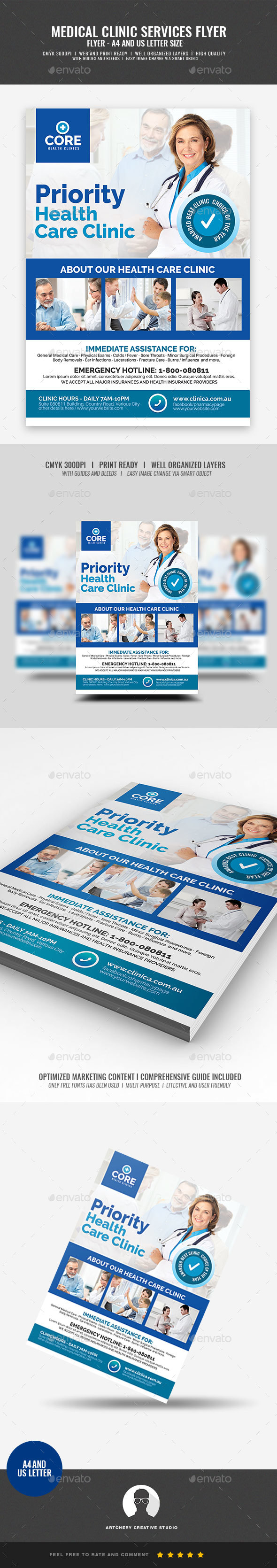 Medical Clinic Promotional Flyer - Corporate Flyers