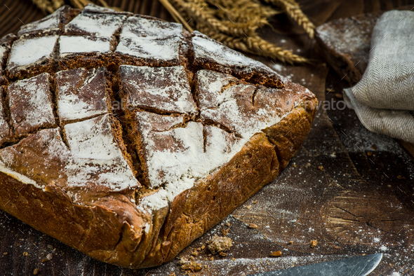 Traditional artisan bakery, fresh bread - Stock Photo - Images