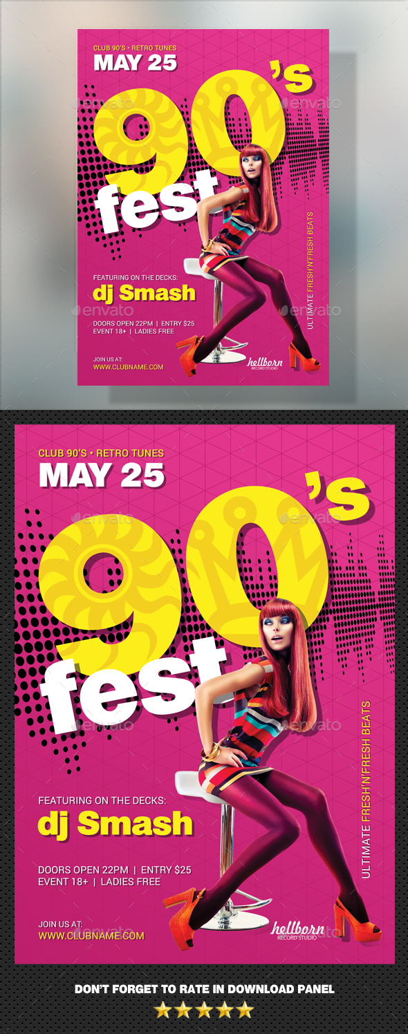 90's Party Flyer - Clubs & Parties Events
