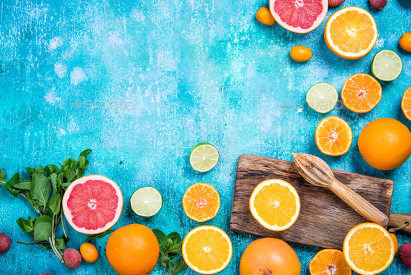 Ingredients for refreshing healthy exotic juice - Stock Photo - Images
