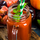Freshy maked tomato juice with salt and basil - PhotoDune Item for Sale