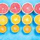 Citrus fruits halves flat lay - PhotoDune Item for Sale