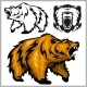 Color Vector Illustration of Grizzly Bear - GraphicRiver Item for Sale