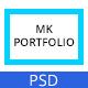 MK - Personal Portfolio PSD template - ThemeForest Item for Sale