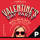 Retro Valentine's Day Flyer & Poster - GraphicRiver Item for Sale
