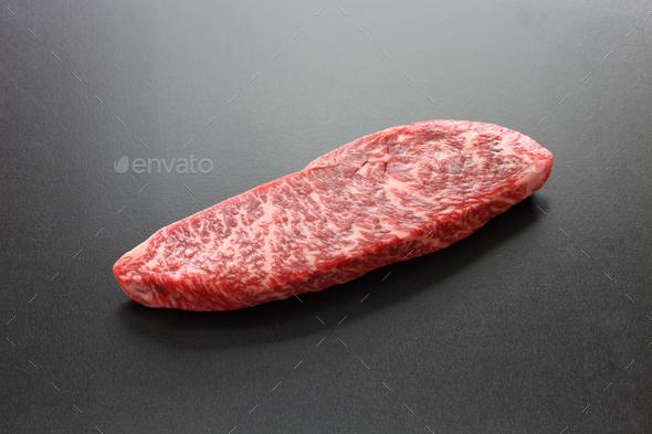 raw wagyu beaf, Japanese food - Stock Photo - Images