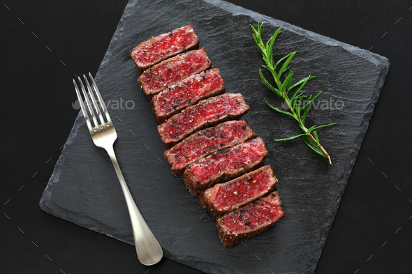 Wagyu beef steak, Japanese food - Stock Photo - Images