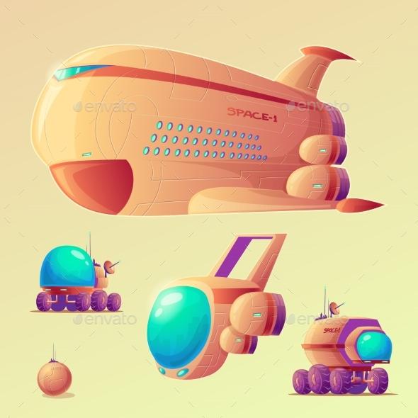 Vector Mars Colonization Objects Set - Miscellaneous Vectors