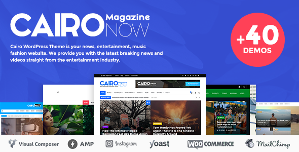 Cairo - Newspaper & Magazine WordPress Theme - News / Editorial Blog / Magazine