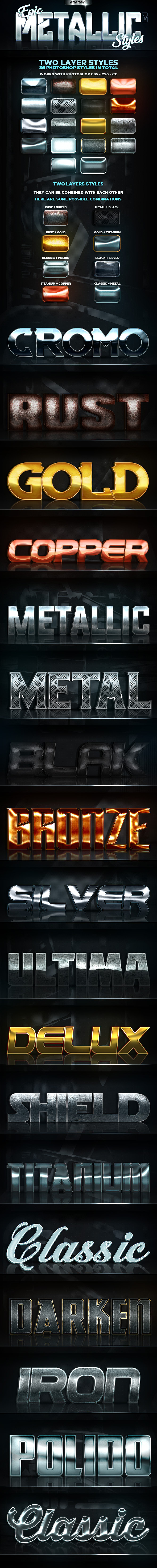 Epic Metallic Styles 2 - Text Effects Styles