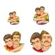 Vector Pop Art Avatars of Gay Men