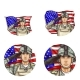 Vector US Flag Salute Soldier Pop Art Avatar Icon