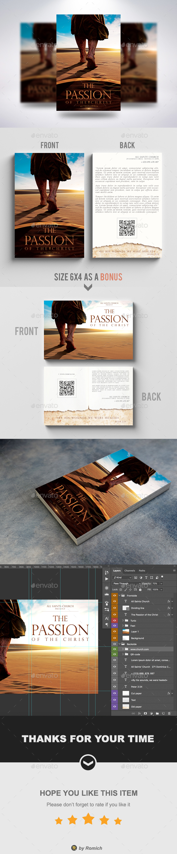 The Passion Of The Christ - Church Flyers