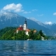 Lake Bled between Alps in Slovenia - VideoHive Item for Sale