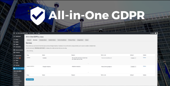 All-in-One GDPR is a complete GDPR compliance toolkit plugin for WordPress. - CodeCanyon Item for Sale