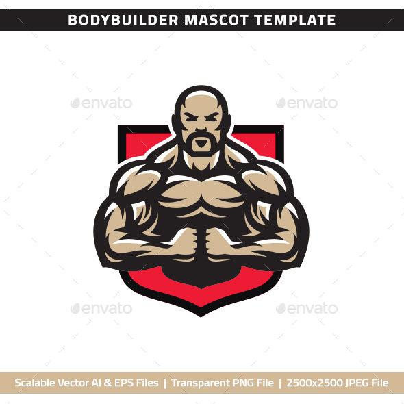 Bodybuilder Mascot - People Characters
