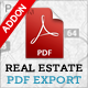 Real Estate PDF Export