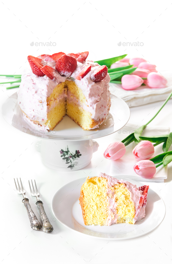 Strawberry Cake - Stock Photo - Images