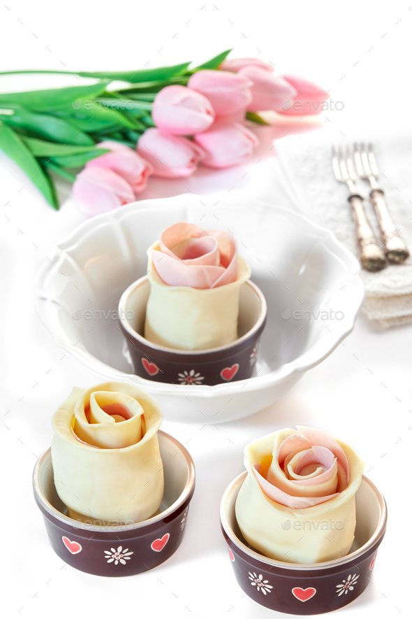 Puff Pastry Roses - Stock Photo - Images