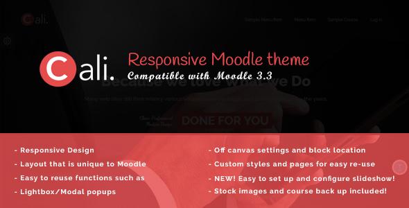 Cali - A Fresh Moodle Theme - Corporate Moodle