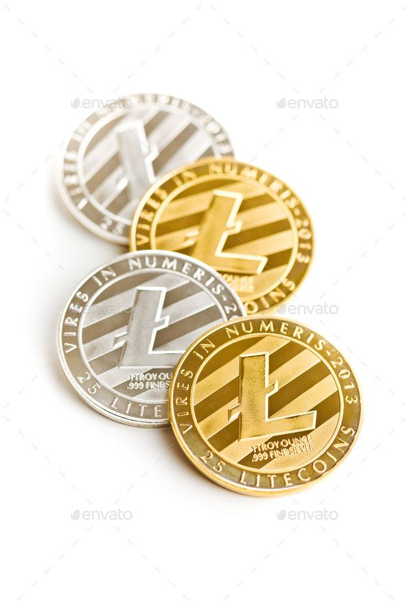 Litecoin. Digital cryptocurrency. - Stock Photo - Images